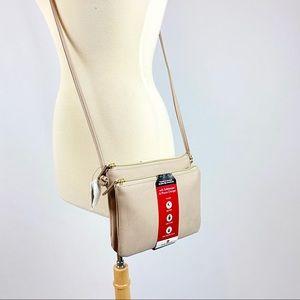 Mundi RFID Crossbody Travel Purse w/ Phone Charger